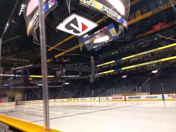 Bridgestone Arena, section: 117, row: aa, seat: 8
