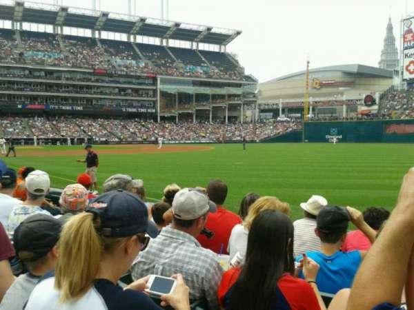 Progressive Field, section: 128, row: E, seat: 1