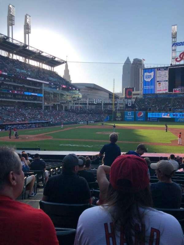 Progressive Field, section: 144, row: W, seat: 8