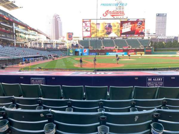 Progressive Field, section: 151, row: K, seat: 4
