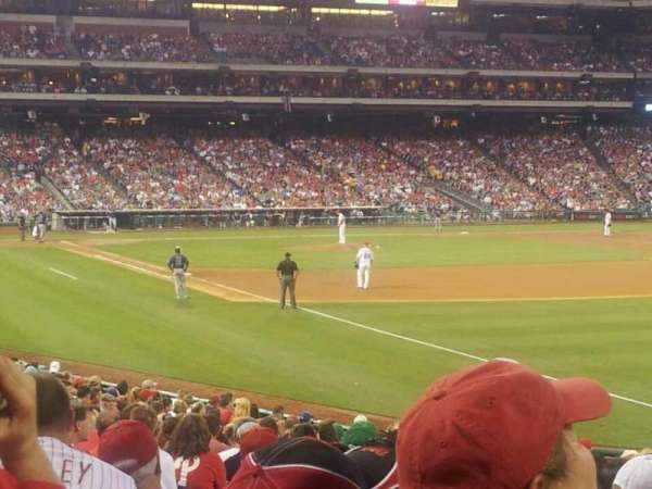 Citizens Bank Park, section: 109, row: 25, seat: 12