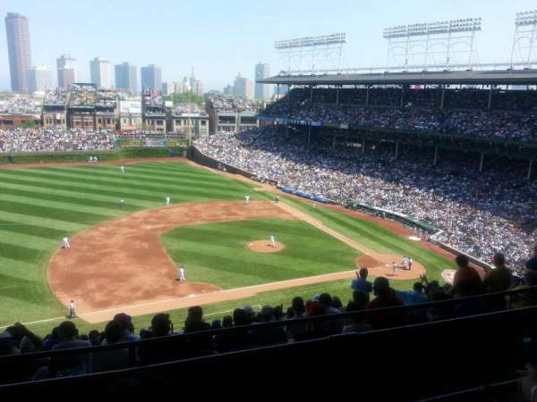 Wrigley Field, section: 410L, row: 2, seat: 10