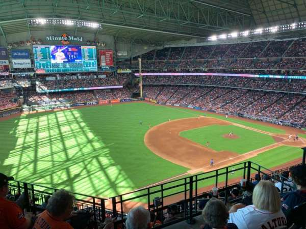 Minute Maid Park, section: 408, row: 1, seat: 1