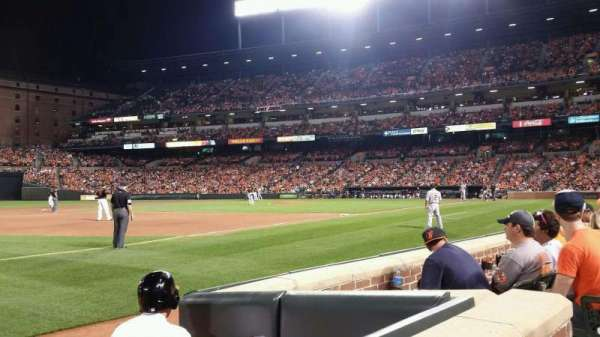 Oriole Park at Camden Yards, section: 60, row: 1, seat: 5