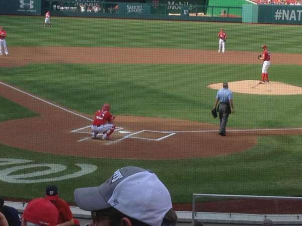 Nationals Park, section: 124, row: F, seat: 1