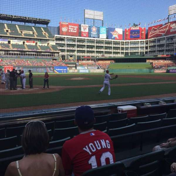 Globe Life Park in Arlington, section: 30, row: 3, seat: 2