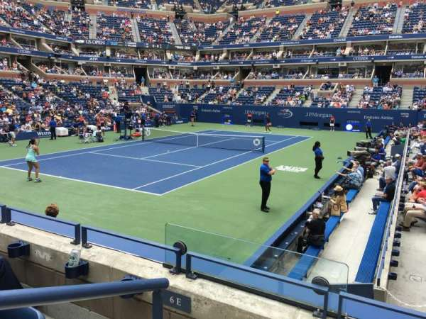 Arthur Ashe Stadium, section: 7, row: F, seat: 4
