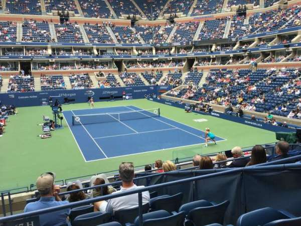 Arthur Ashe Stadium, section: 67, row: J, seat: 1