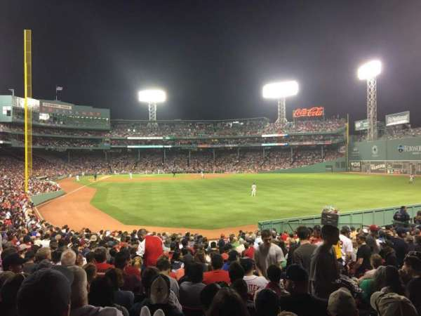 Fenway Park, section: Right Field Box 89, row: QQ, seat: 4