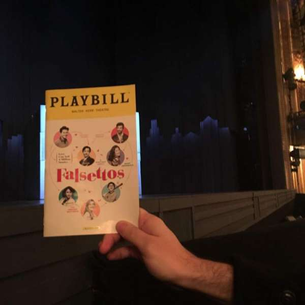 Walter Kerr Theatre, section: OrchL, row: B, seat: 7