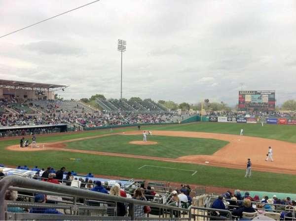 Hohokam Stadium, section: 213, row: FF, seat: 1