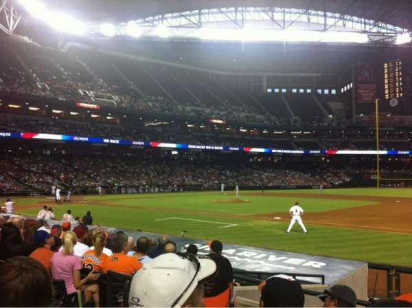 Chase Field, section: 114, row: 13, seat: 12