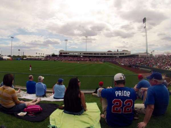 Tempe Diablo Stadium, section: Lawn, row: Left Field
