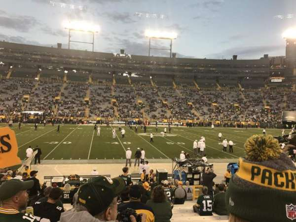 Lambeau Field, section: 118, row: 17, seat: 13 and 14