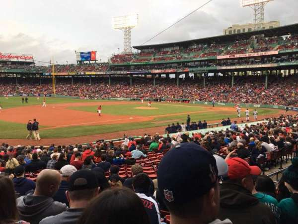 Fenway Park, section: Loge Box 157, row: JJ, seat: 12