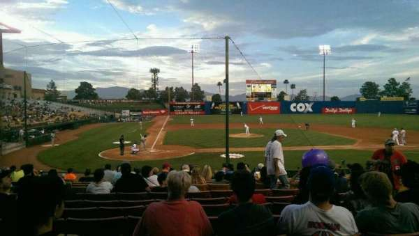 Cashman Field, section: E20, row: C, seat: 3