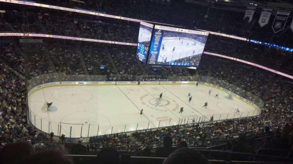 Amalie Arena, section: 319A, row: H, seat: 7