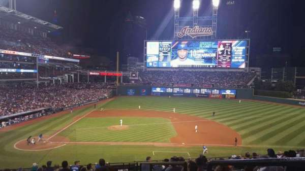 Progressive Field, section: 346, row: P, seat: 8