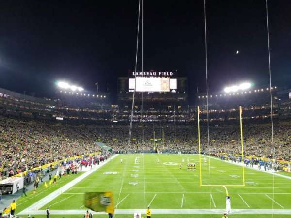 Lambeau Field, section: End Zone 101, row: 30, seat: 15