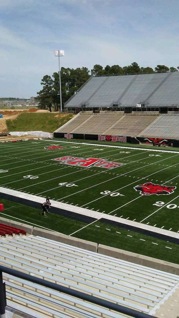 Centennial Bank Stadium, section: AA, row: 2, seat: 1
