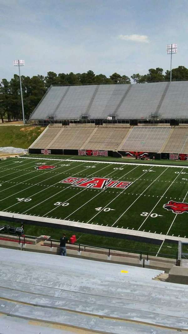 Centennial Bank Stadium, section: BB, row: 20, seat: 4