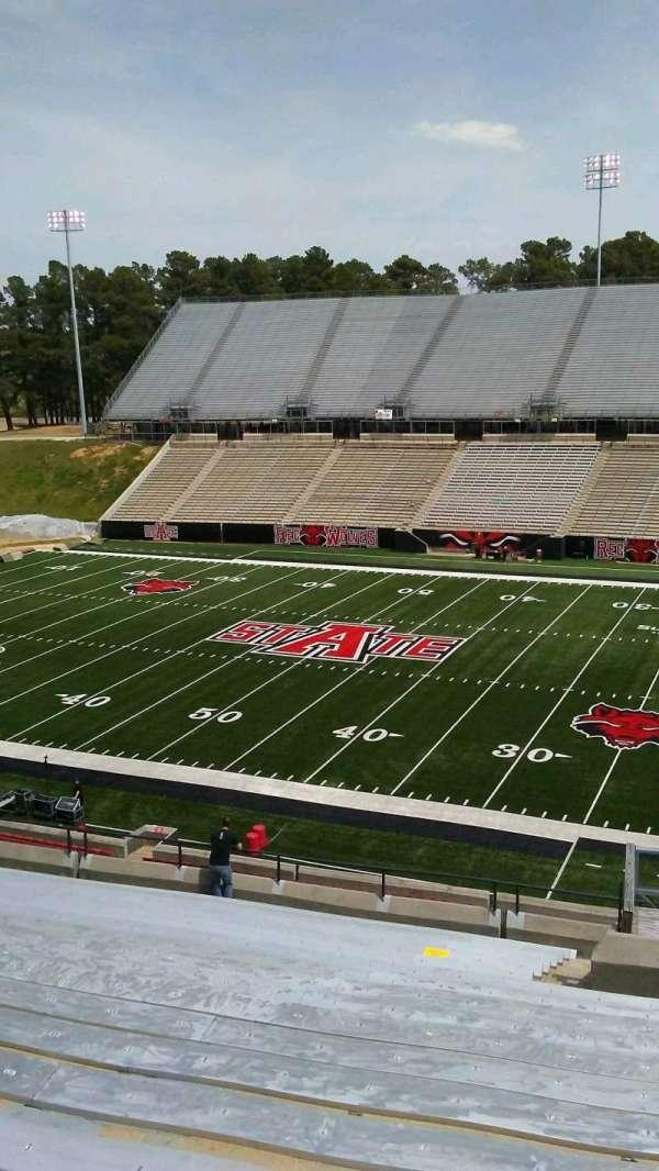 Centennial Bank Stadium, section: BB, row: 20, seat: 4