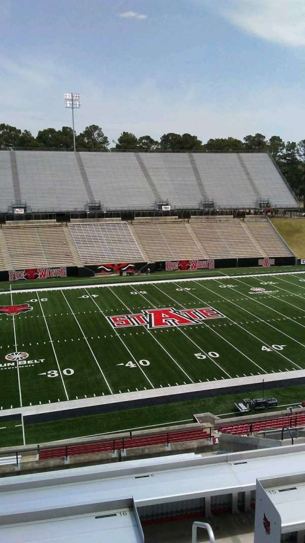 Centennial Bank Stadium, section: EE, seat: 43