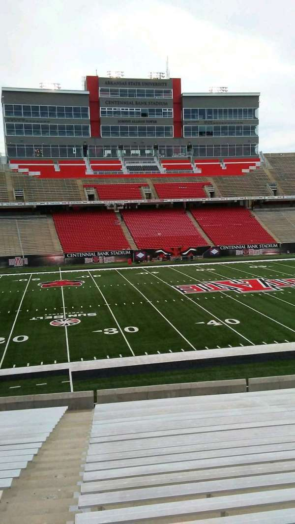 Centennial Bank Stadium, section: T, row: 23