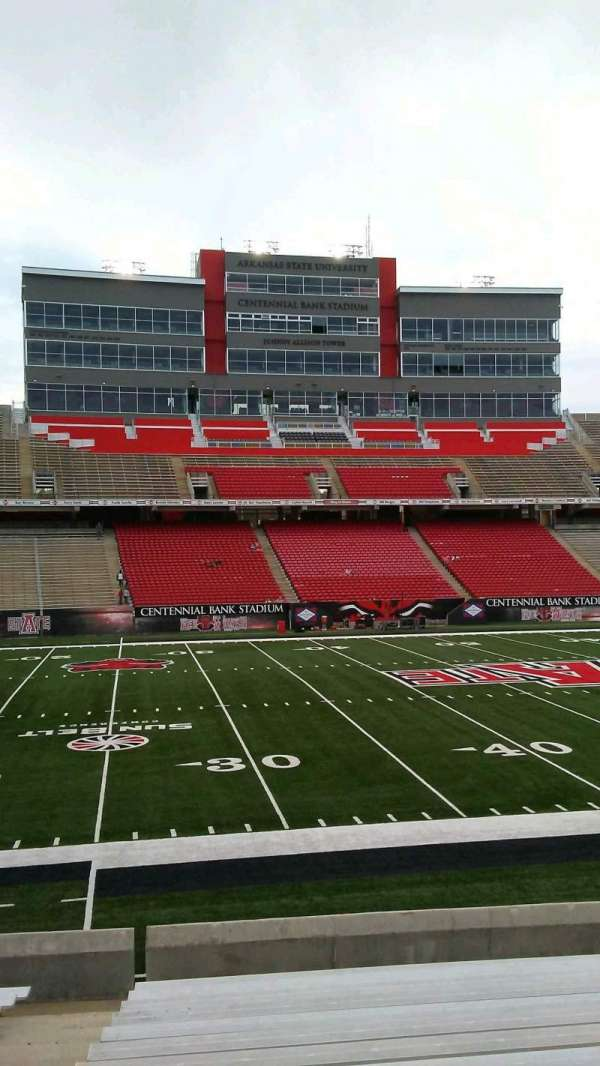 Centennial Bank Stadium, section: T, row: 10, seat: 17