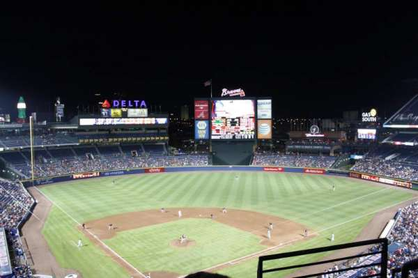 Turner Field, section: 403L, row: 3, seat: 101