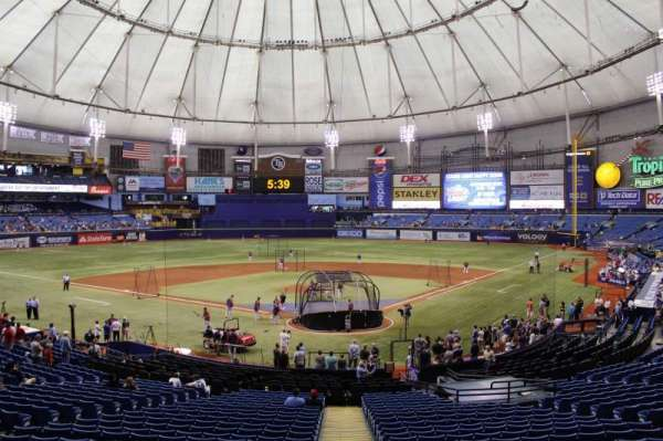 Tropicana Field, section: 103, row: gg, seat: 3