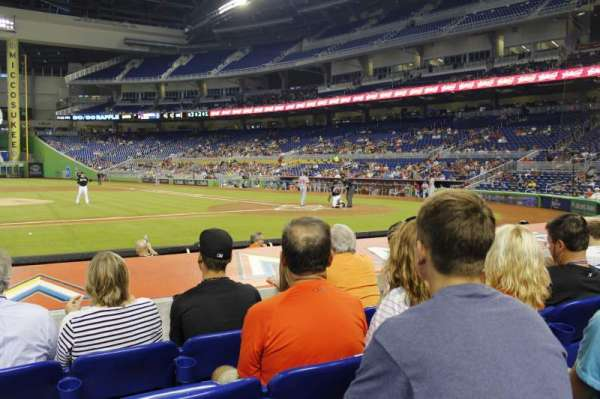Marlins Park, section: 20, row: d, seat: 10