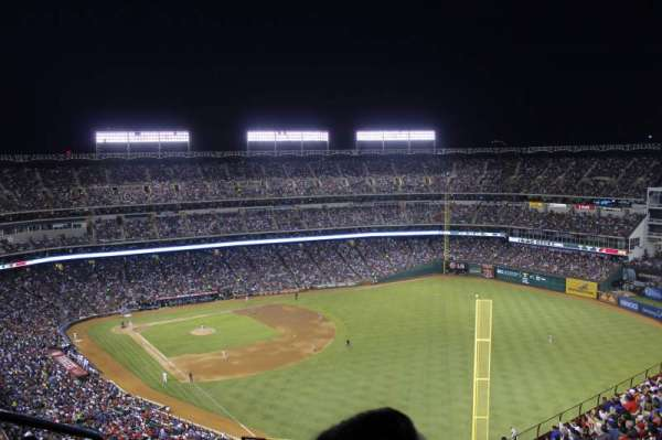 Globe Life Park in Arlington, section: 343, row: 21, seat: 2