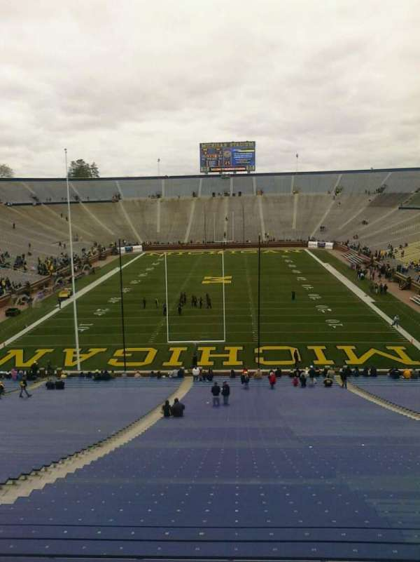 Michigan Stadium, section: 33, row: 62, seat: 18