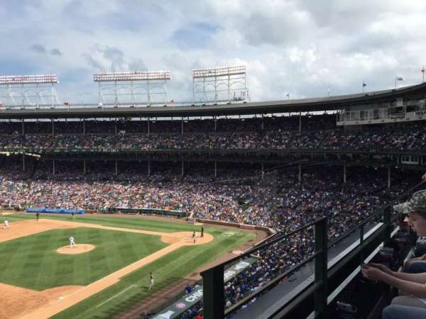 Wrigley Field, section: 307L, row: 1, seat: 23