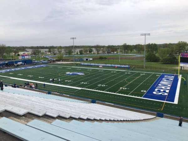 Memorial Stadium (Indiana State), section: A, row: 40, seat: 23