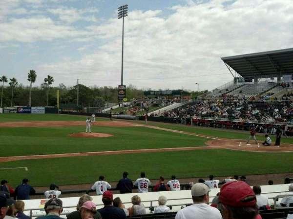 Hammond Stadium, section: 113, row: 12, seat: 10