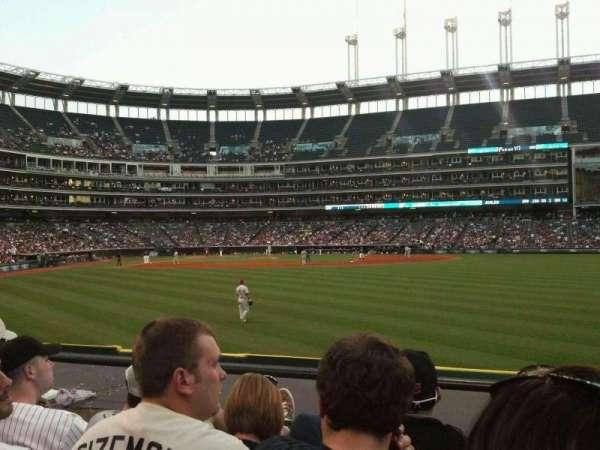 Progressive Field, section: 109, row: D, seat: 7