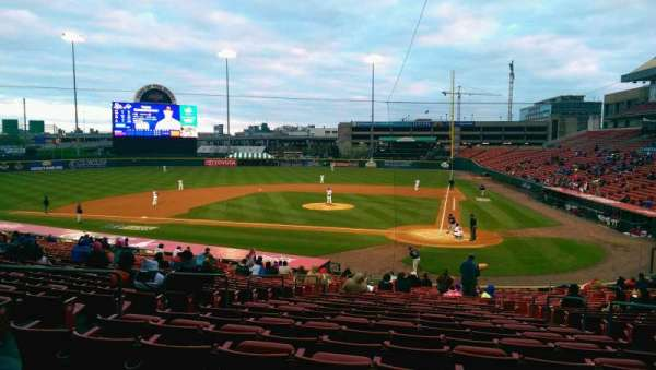 Sahlen Field, section: 107, row: AA, seat: 1