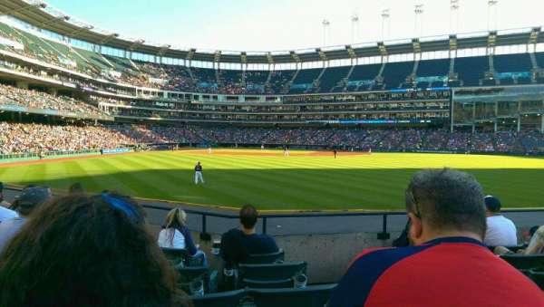 Progressive Field, section: 107, row: F, seat: 2