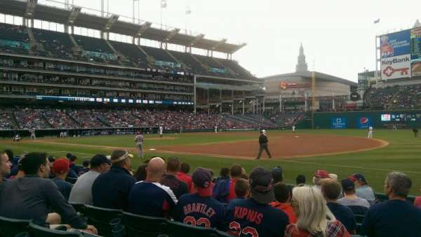 Progressive Field, section: 136, row: H, seat: 2