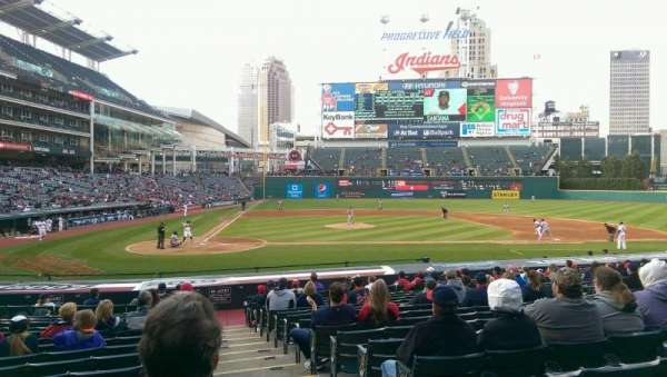 Progressive Field, section: 149, row: W, seat: 1