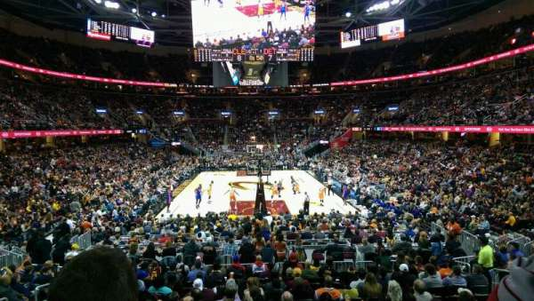 Quicken Loans Arena, section: 117, row: 14, seat: 8