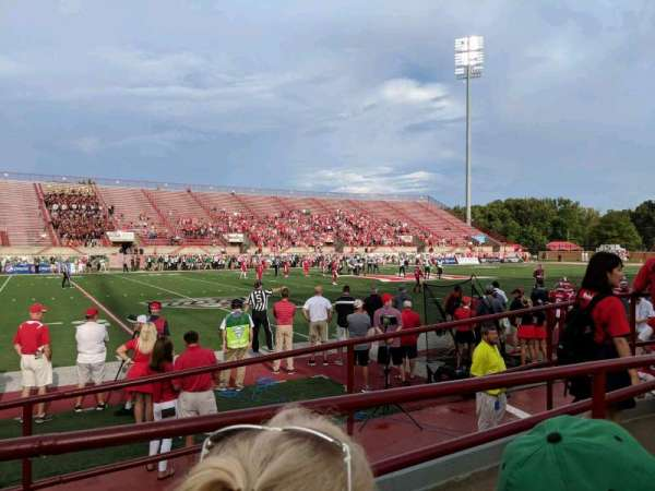 Yager Stadium, section: 6, row: 2, seat: 7