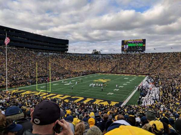 Michigan Stadium, section: 9, row: 51, seat: 5