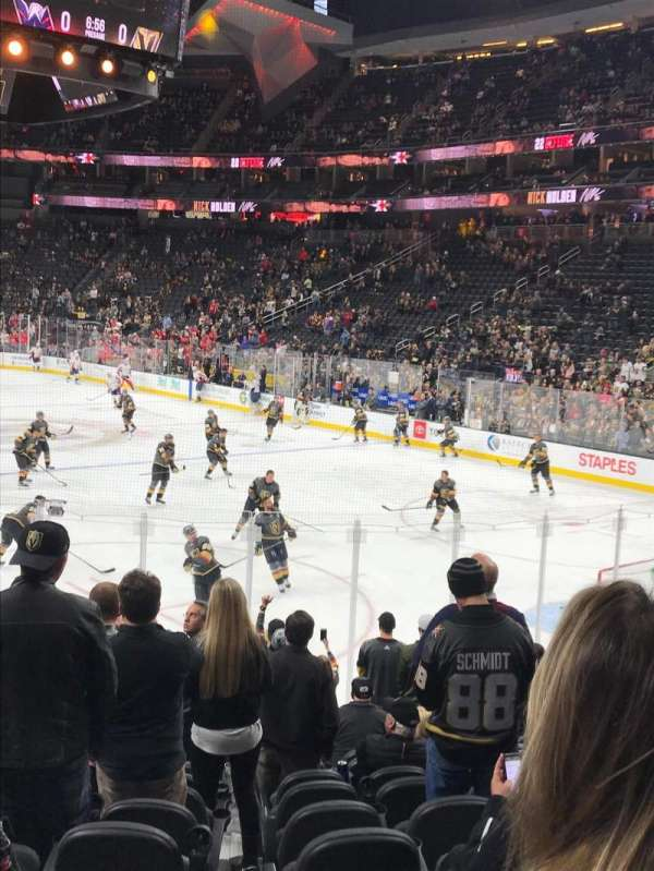 T-Mobile Arena, section: 19, row: M, seat: 9