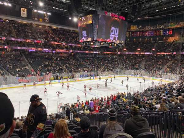 T-Mobile Arena, section: 13, row: V, seat: 19