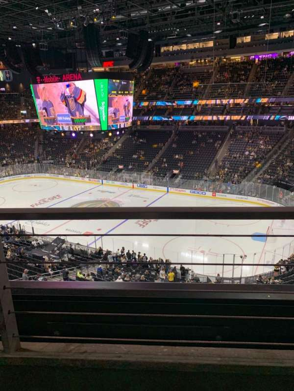 T-Mobile Arena, section: 208, row: A, seat: 13