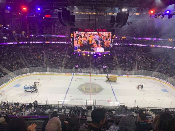 T-Mobile Arena, section: 205, row: F, seat: 9
