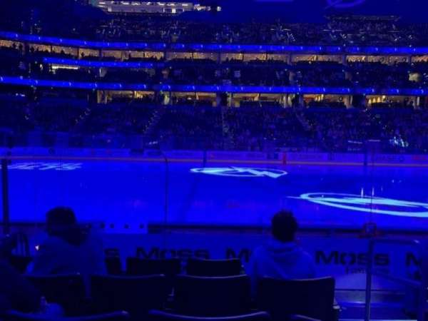 Amalie Arena, section: 102, row: G, seat: 2